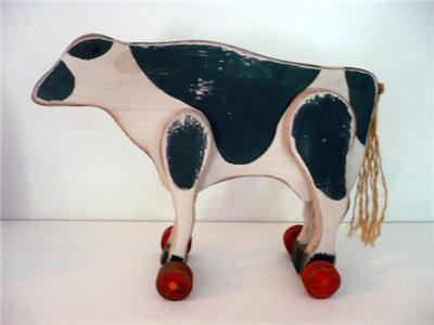 Cow with wheels